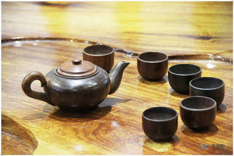 老挝 酸枝茶壶6件套(小)0207459图片七