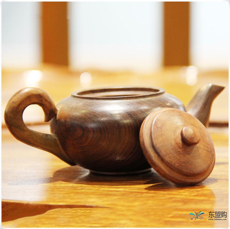 老挝 酸枝茶壶6件套(小)0207459图片八