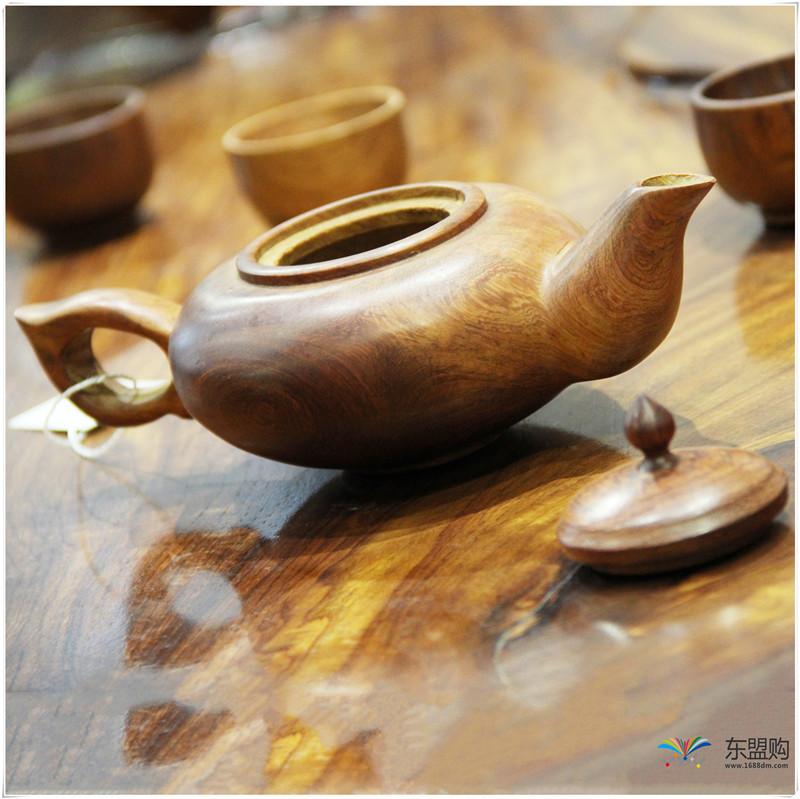 老挝 草花梨茶壶摆件 0207166图片二
