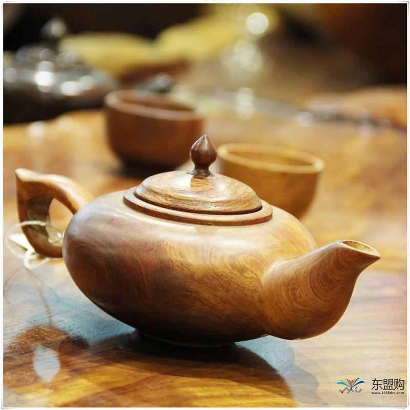 老挝 草花梨茶壶摆件 0207166图片四