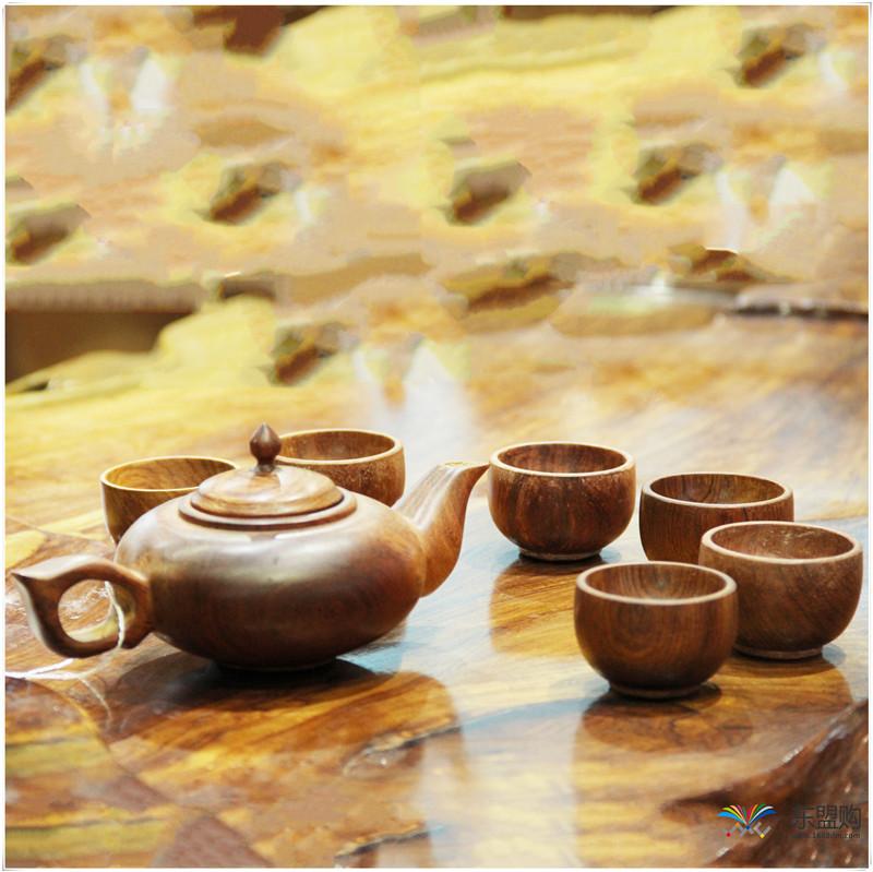 老挝 草花梨茶壶摆件 0207166图片五