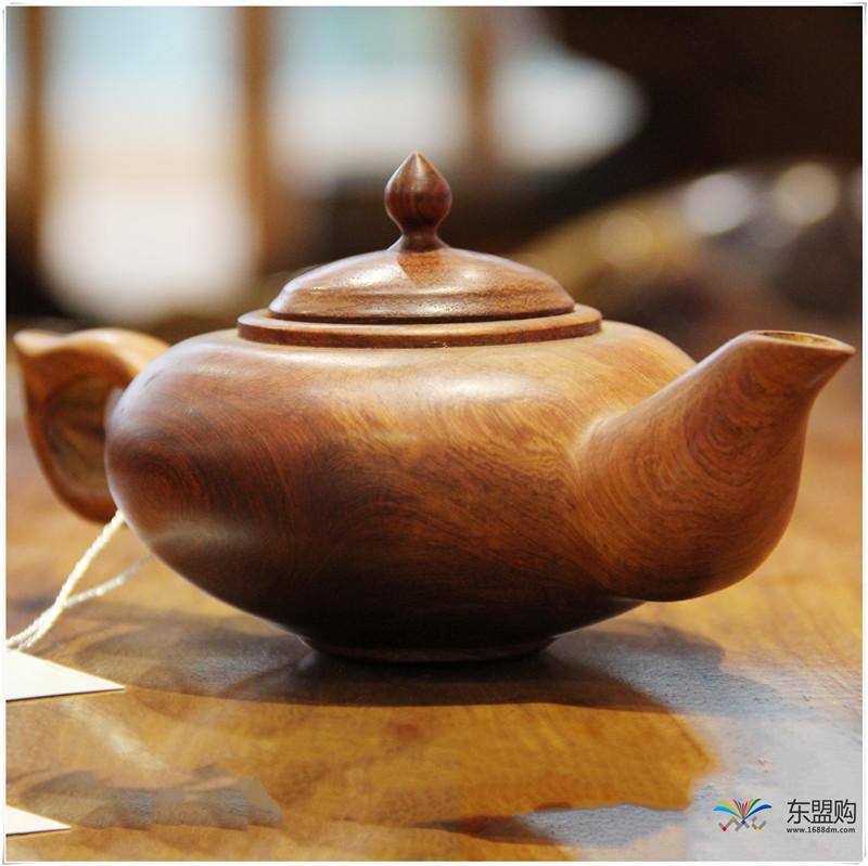 老挝 草花梨茶壶摆件 0207166图片三