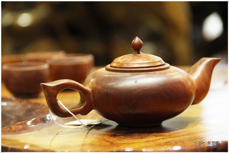 老挝 草花梨茶壶摆件 0207166图片七