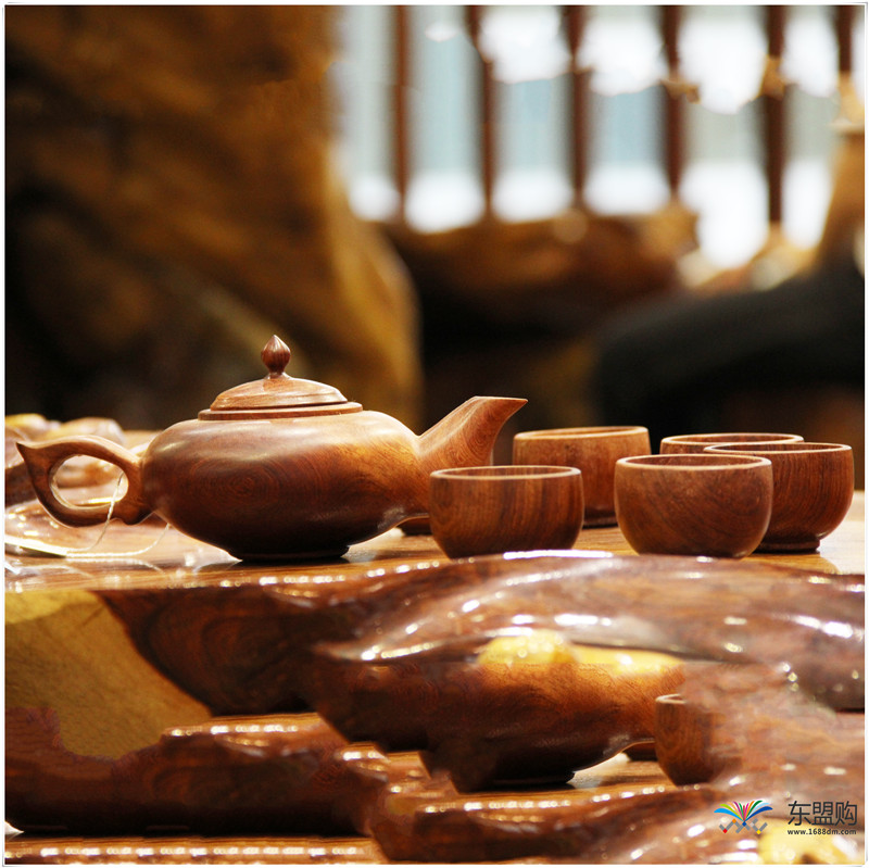 老挝 草花梨茶壶摆件 0207166图片八