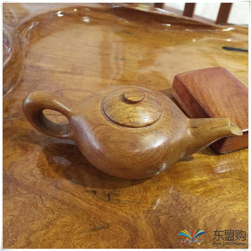 老挝 黄花梨茶壶茶具精品工艺品收藏把件家具 0200277图片十