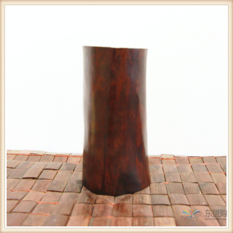 老挝 红酸枝木笔筒木罐 0202966图片二