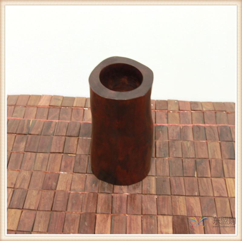 老挝 红酸枝木笔筒木罐 0202966图片三