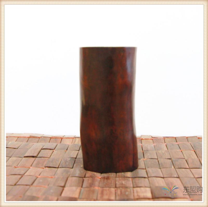 老挝 红酸枝木笔筒木罐 0202966图片七