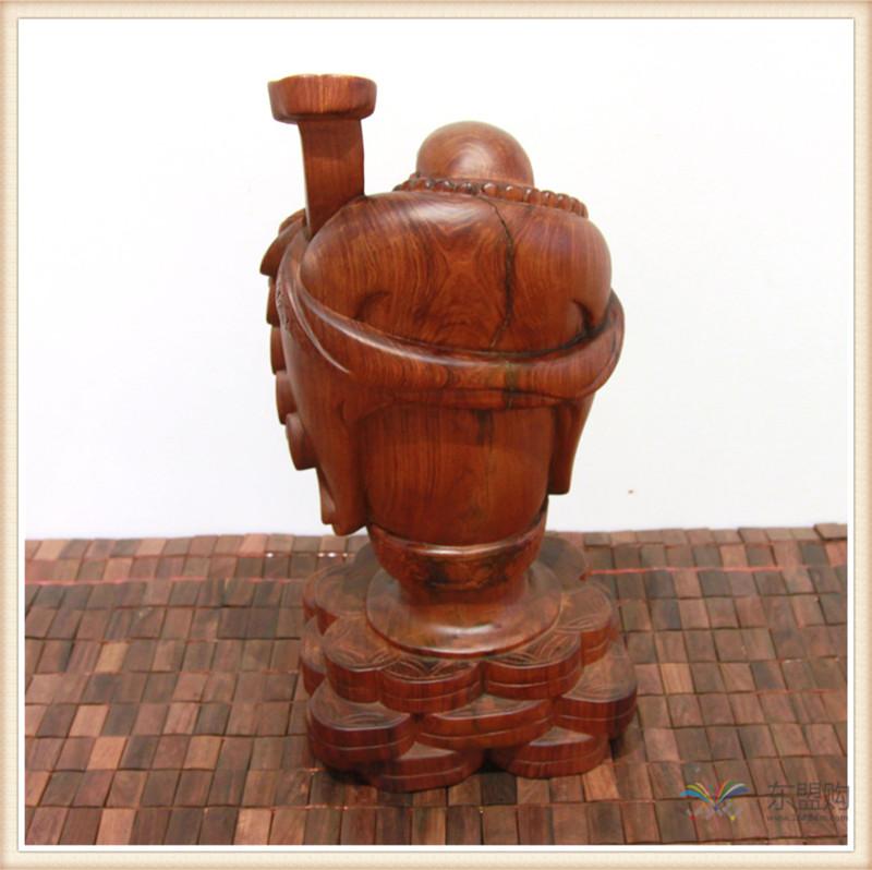 老挝 草花梨如意乐佛 木雕如意乐佛 工艺品 0200394图片八