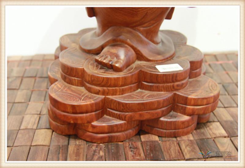 老挝 草花梨如意乐佛 木雕如意乐佛 工艺品 0200394图片五