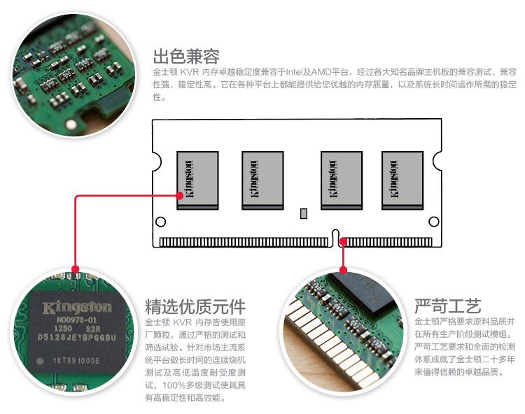 金士顿 DDR3 1600 4G 笔记本内存图片五