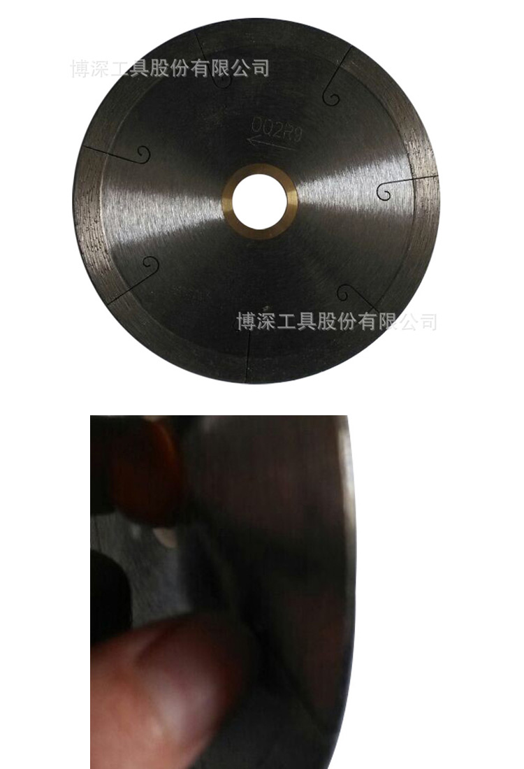 定制鱼钩齿陶瓷切割片  五金工具磨具切割片图片二