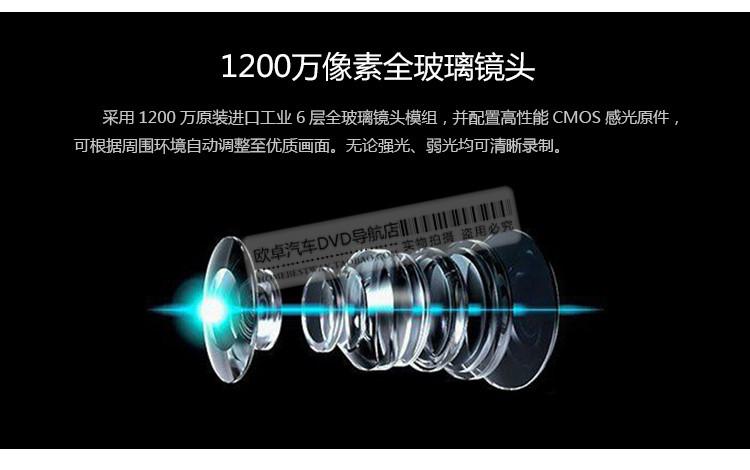 福特翼虎专用隐藏式行车记录仪1080P高清手机监控图片二