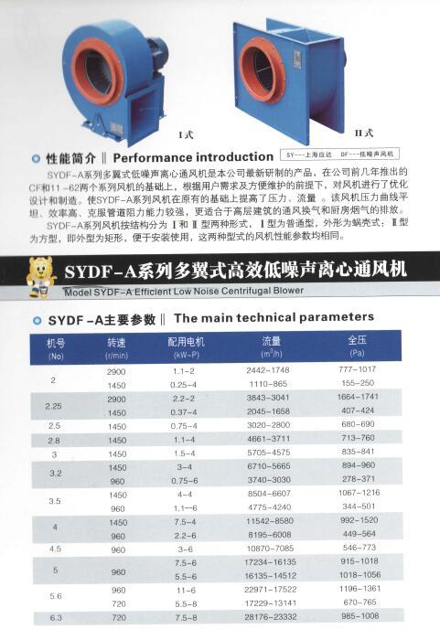 SYDF-A系列多翼式高效低噪声离心通风机图片一