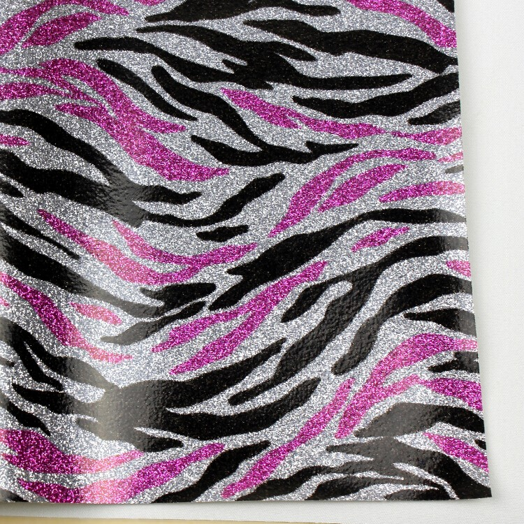 厂家销售 优质彩斑马家居墙布荧光革 亮片皮革鞋包图片五