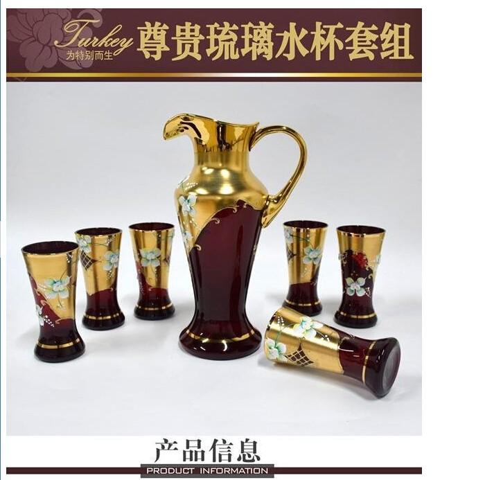 土耳其 尊贵漆金琉璃水杯套组图片二