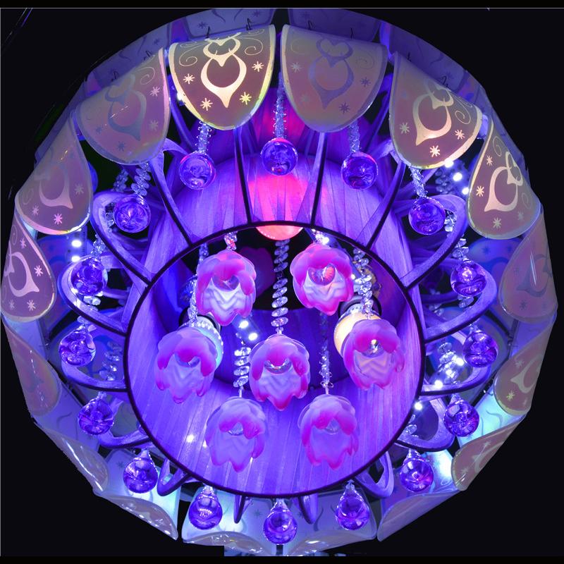 佳明灯饰 圆形 LED水晶灯客厅灯图片一