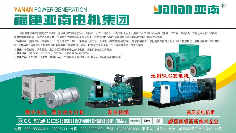 亚南G系列高压无刷同步发电机1000KW图片一