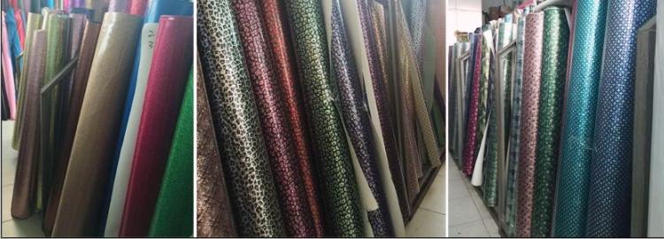 厂家直时尚七彩皮革 印花合成闪光皮革 箱包装饰纤革图片十