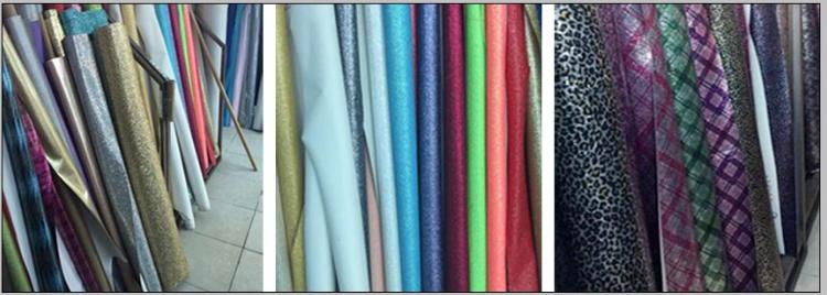 厂家直时尚七彩皮革 印花合成闪光皮革 箱包装饰纤革图片九