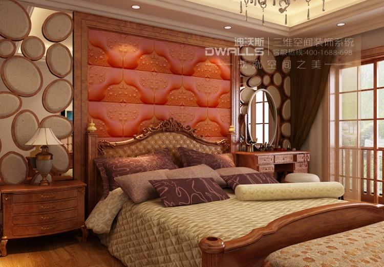 迪沃斯欧式人造革皮雕软包背景墙图片八
