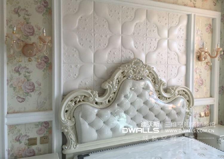 迪沃斯欧式人造革皮雕软包背景墙图片九