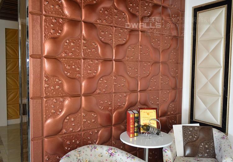 迪沃斯欧式人造革皮雕软包背景墙图片六
