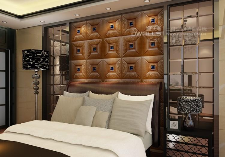 迪沃斯定制菱形皮雕软包背景墙图片三