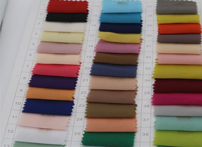 75D加密珍珠雪纺 女装时尚面料衬衫面料 涤纶色布图片二
