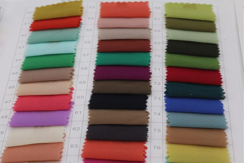 75D加密珍珠雪纺 女装时尚面料衬衫面料 涤纶色布图片六
