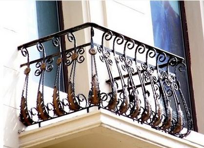 铁艺阳台护栏飘窗栏杆扶手装饰欧式室内田园窗户围栏限图片