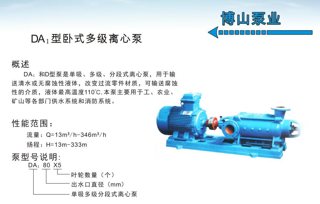 DA1型卧式多级离心泵图片一