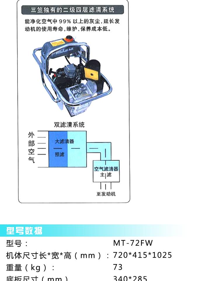 三笠内燃式冲击夯MT-72FW图片四