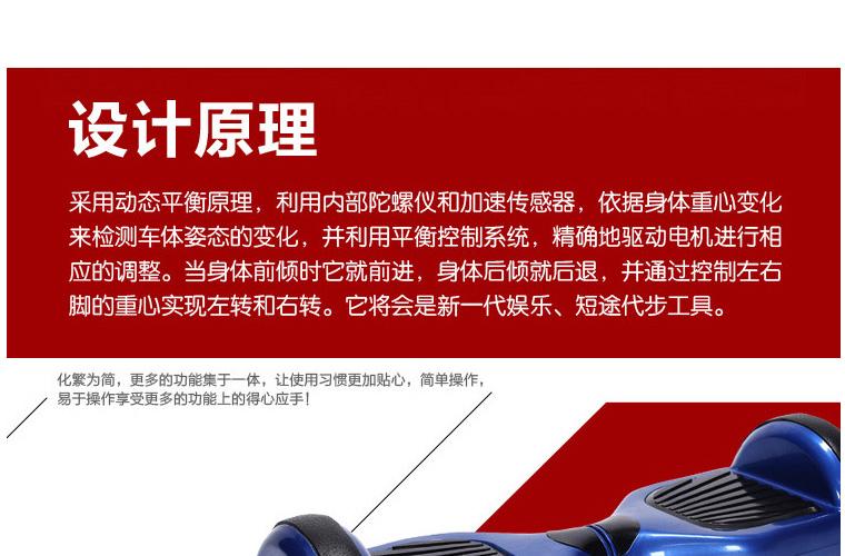 工厂直销 自平衡电动扭扭车两轮滑板车图片二