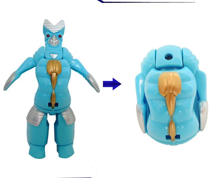 变形蛋4只装铠甲战队 奥特蛋儿童玩具套装 奥特曼咸图片九