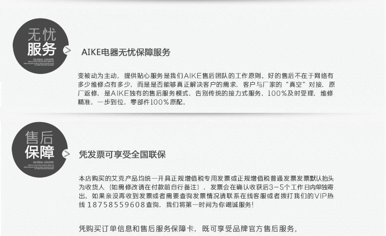 AIKE艾克经典款干手器AK2006H 无刷电机图片十六