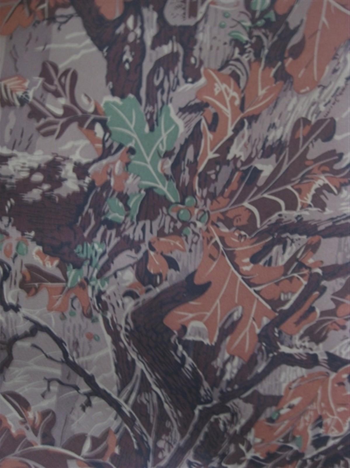 600D大树叶 大森林树叶花 牛津布涂层pvc图片五