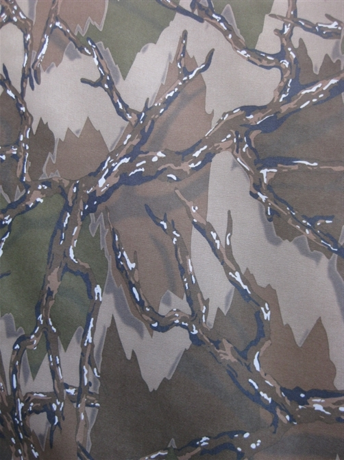 600D大树叶 大森林树叶花 牛津布涂层pvc图片八