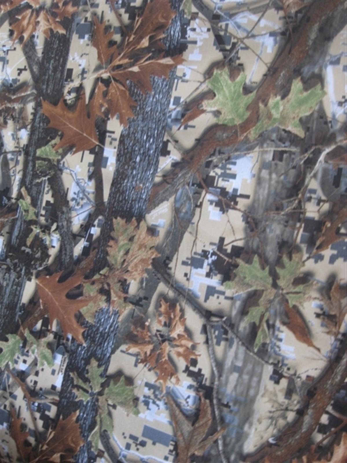 600D大树叶 大森林树叶花 牛津布涂层pvc图片九