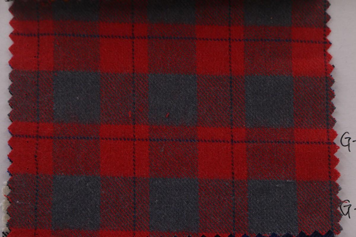厂家批发 秋冬全棉色织布 磨毛格子布 服装衬衫面料图片四