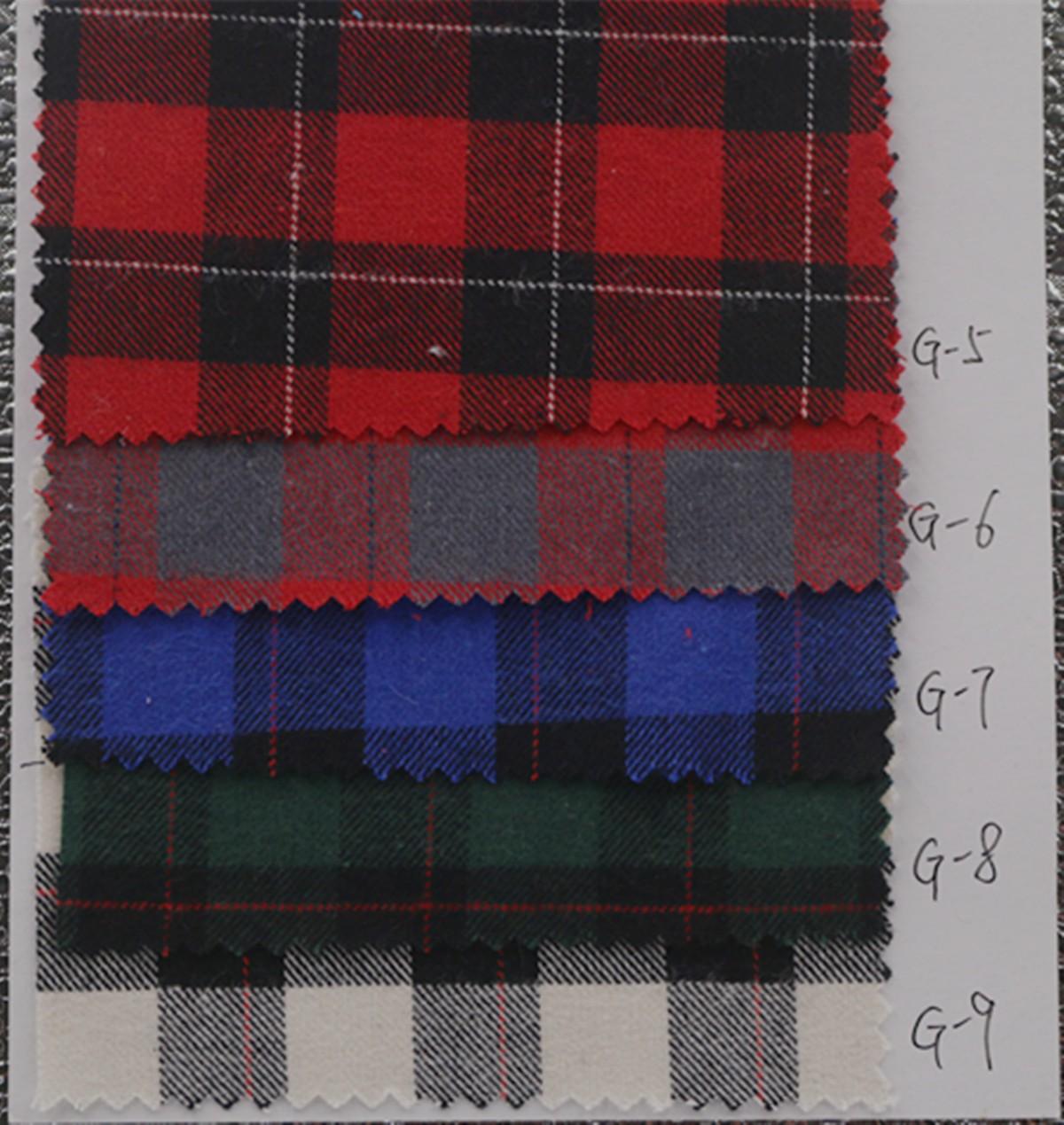 厂家批发 秋冬全棉色织布 磨毛格子布 服装衬衫面料图片二