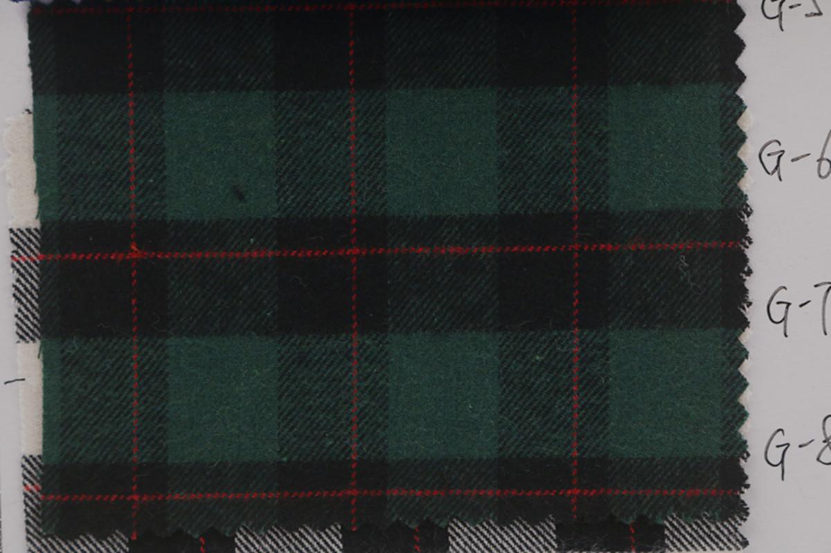 厂家批发 秋冬全棉色织布 磨毛格子布 服装衬衫面料图片六