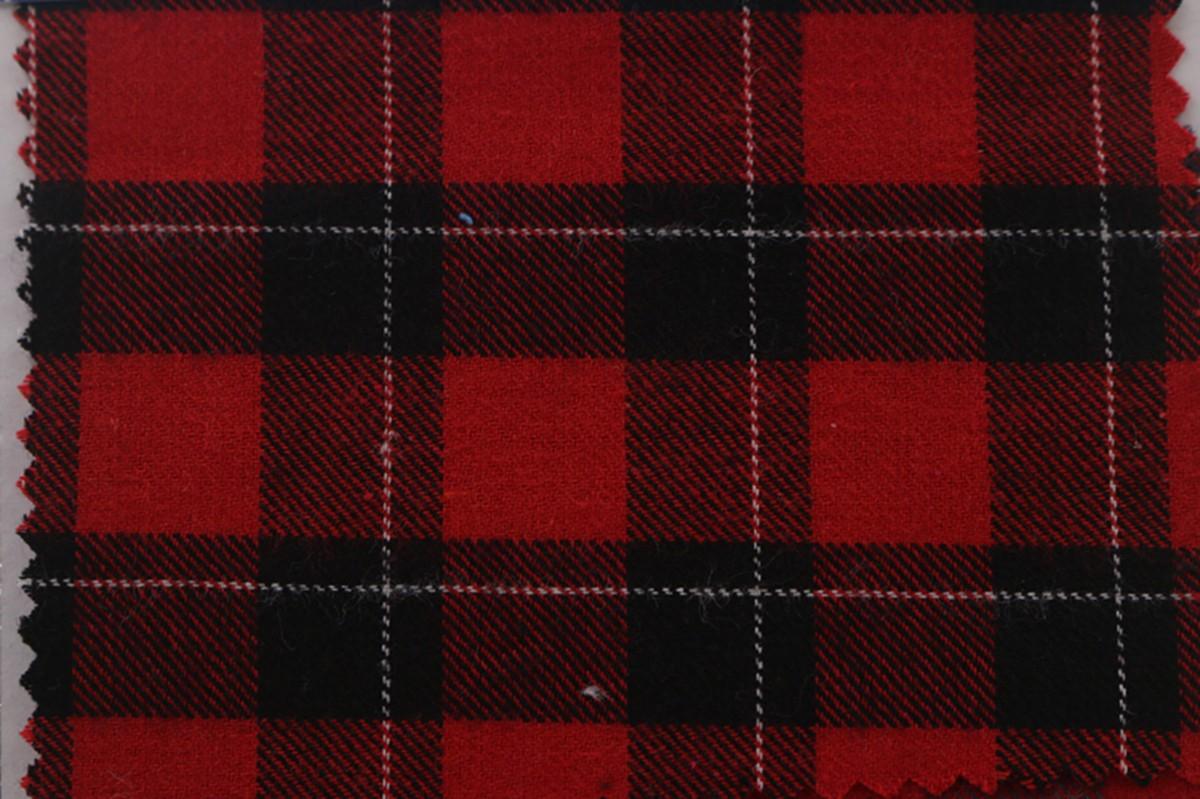 厂家批发 秋冬全棉色织布 磨毛格子布 服装衬衫面料图片三
