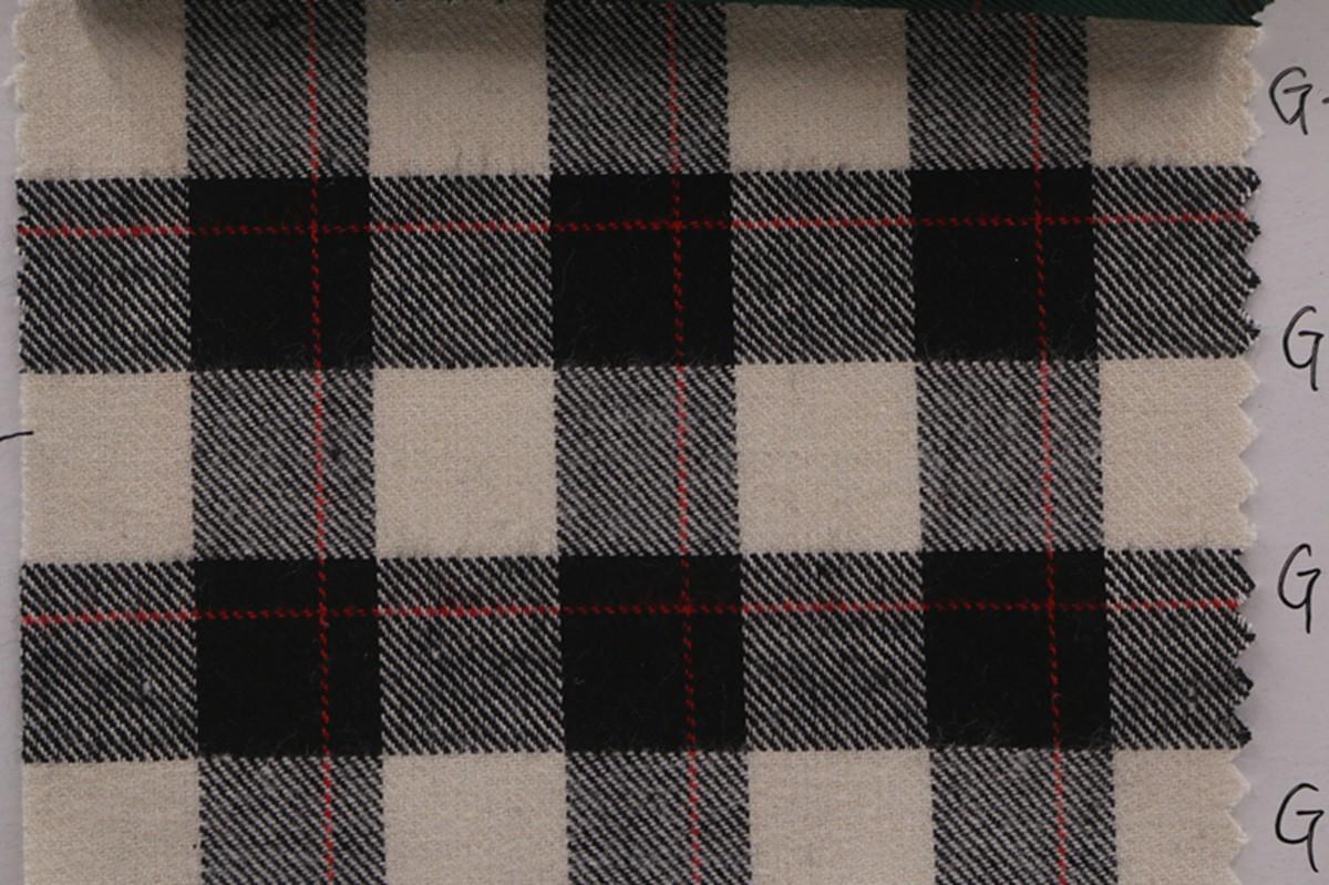 厂家批发 秋冬全棉色织布 磨毛格子布 服装衬衫面料图片七