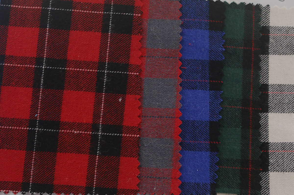 厂家批发 秋冬全棉色织布 磨毛格子布 服装衬衫面料图片八