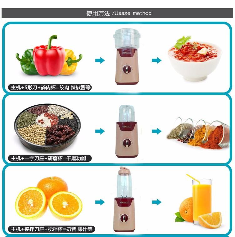 台湾家家户户宝宝婴儿辅食料理机果汁高熊豆浆绞肉好富图片三