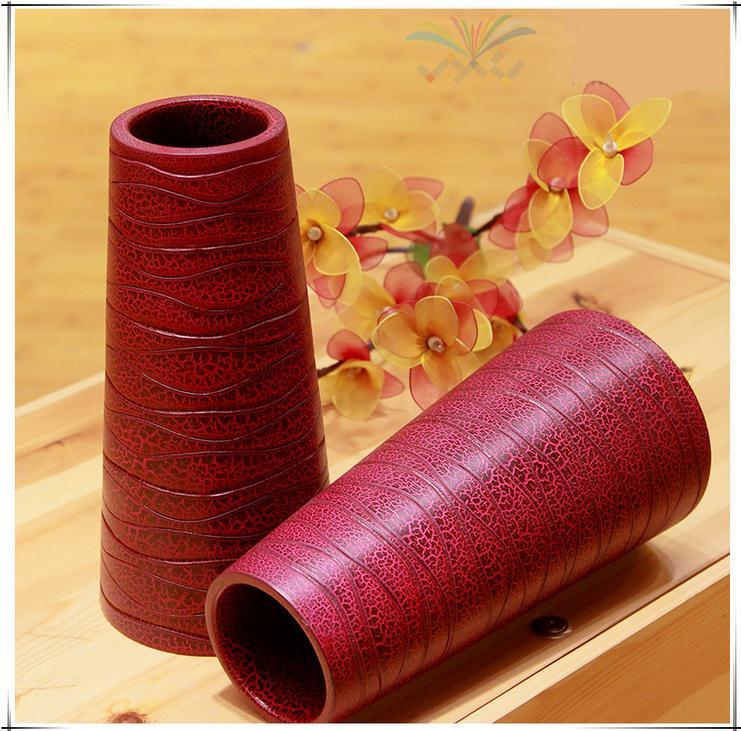 【泰国进口】木质工艺品 创意木质花瓶图片三