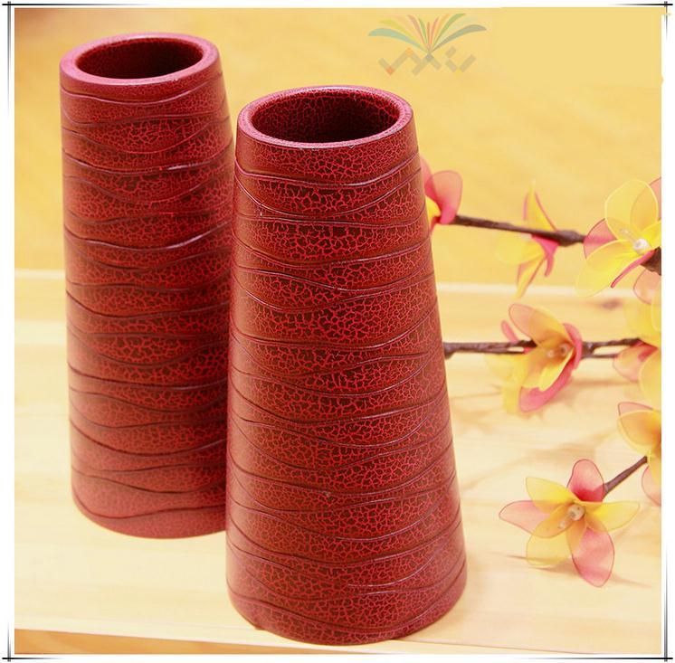 【泰国进口】木质工艺品 创意木质花瓶图片二