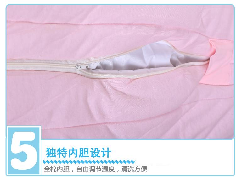 婴比迪婴儿带内胆抱被纯棉包被抱毯新生儿宝宝空调被秋图片二十三
