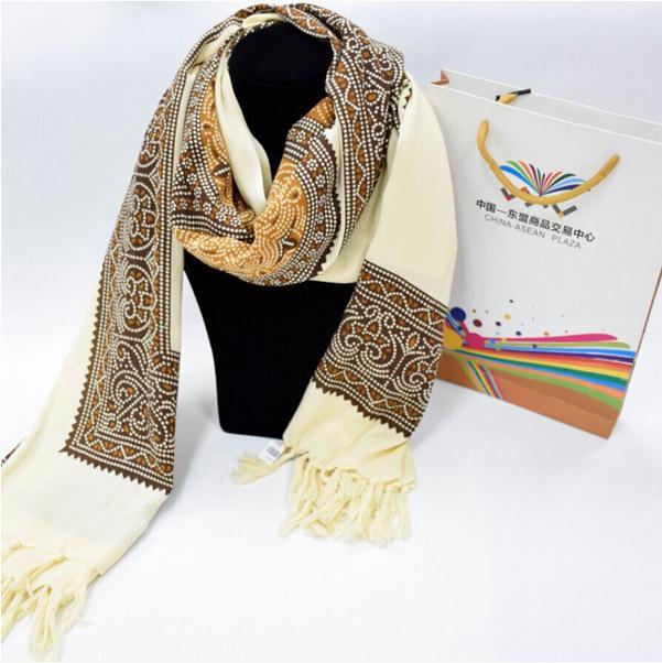 【泰国进口】泰丝围巾披肩图片一